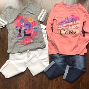 Other - Girls 10 cropped jeans outfit bundle